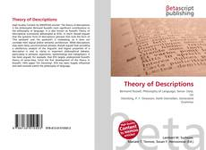 Theory of Descriptions kitap kapağı