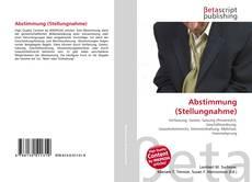 Capa do livro de Abstimmung (Stellungnahme)