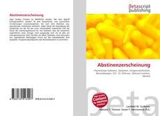Buchcover von Abstinenzerscheinung