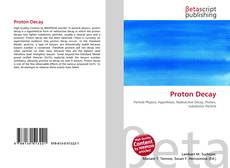 Bookcover of Proton Decay