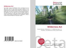 Portada del libro de Wilderness Act