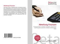 Bookcover of Abteilung Finanzen