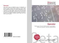 Capa do livro de Operator