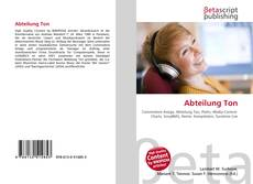 Bookcover of Abteilung Ton