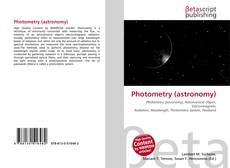 Couverture de Photometry (astronomy)