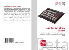 Bookcover of Non-Critical String Theory