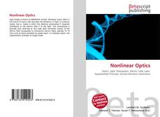 Buchcover von Nonlinear Optics