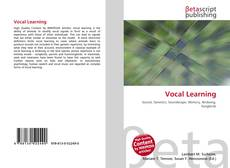 Bookcover of Vocal Learning
