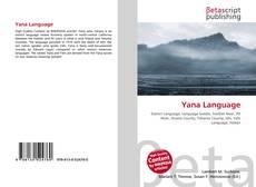 Buchcover von Yana Language
