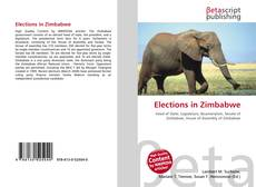 Bookcover of Elections in Zimbabwe