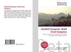 Portada del libro de Wodefit Gesgeshi, Widd Innat Ityopp'ya