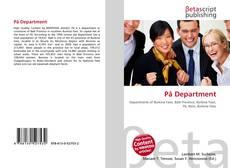 Pâ Department kitap kapağı