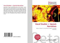 Vocal Studies + Uprock Narratives kitap kapağı
