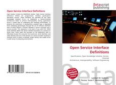 Bookcover of Open Service Interface Definitions