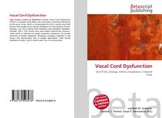Bookcover of Vocal Cord Dysfunction