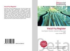 Bookcover of Vocal Fry Register