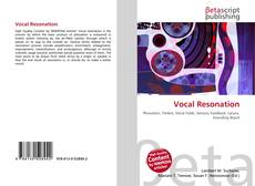 Couverture de Vocal Resonation