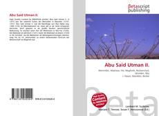 Capa do livro de Abu Said Utman II.