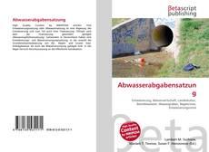 Bookcover of Abwasserabgabensatzung