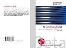 Portada del libro de Ra (American Band)