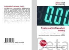 Bookcover of Typographical Number Theory