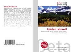 Obadiah Hakeswill kitap kapağı