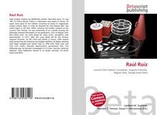 Portada del libro de Raúl Ruiz
