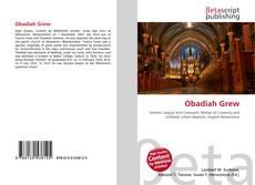 Obadiah Grew kitap kapağı