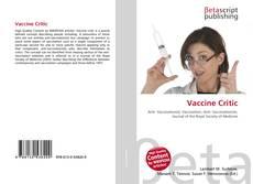 Copertina di Vaccine Critic