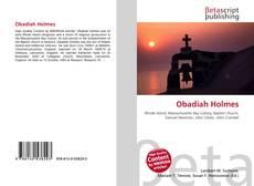Obadiah Holmes kitap kapağı