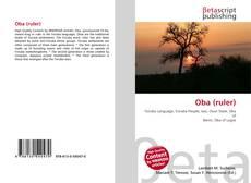 Borítókép a  Oba (ruler) - hoz