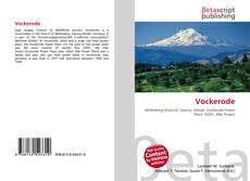 Vockerode kitap kapağı