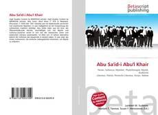 Portada del libro de Abu Sa'id-i Abu'l Khair