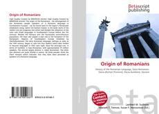 Portada del libro de Origin of Romanians