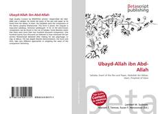 Bookcover of Ubayd-Allah ibn Abd-Allah