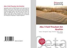 Bookcover of Abu l-Faid Thauban ibn Ibrahim