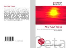 Bookcover of Abu Yusuf Yaqub