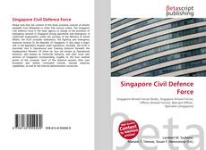 Bookcover of Singapore Civil Defence Force