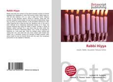 Bookcover of Rabbi Hiyya