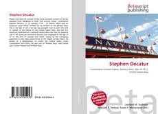 Bookcover of Stephen Decatur