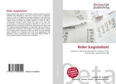 Portada del libro de Rider (Legislation)