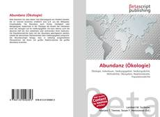 Bookcover of Abundanz (Ökologie)