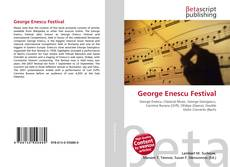 Bookcover of George Enescu Festival