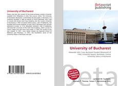 Bookcover of University of Bucharest
