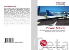 Bookcover of Peruvian Air Force