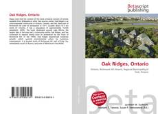 Bookcover of Oak Ridges, Ontario