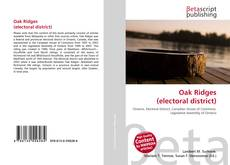 Bookcover of Oak Ridges (electoral district)