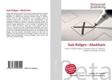 Bookcover of Oak Ridges—Markham