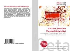 Buchcover von Vacuum Solution (General Relativity)