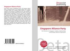 Capa do livro de Singapore Alliance Party